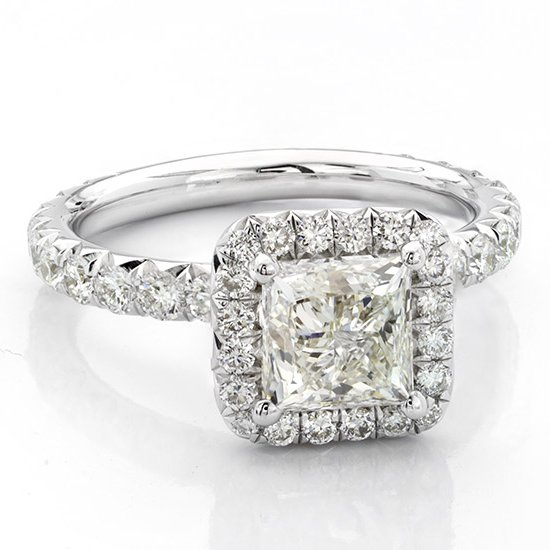 An Art Deco Engagement Ring with Square Gem