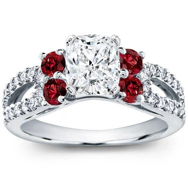 ring side wg graduated ruby accent cushion diamond rings gold cut petite engagement red stone in jewelry nl with white