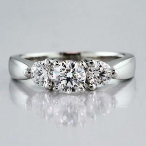 3-Stone Diamond Engagement Ring from Adiamor