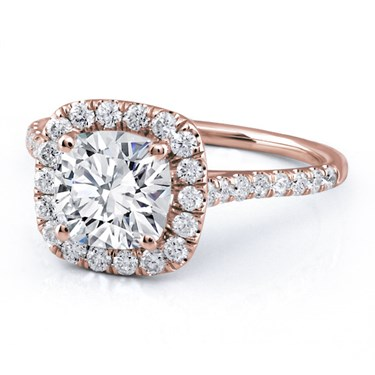 Cushion Cut Diamonds have vintage appeal, but can appear smaller than the Round Brilliant shape
