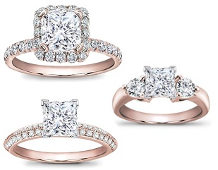 Premiere Series - Women's fashion ring with center stone in crown