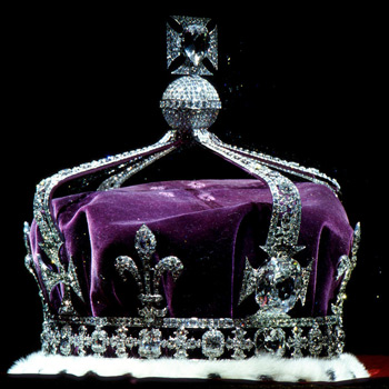 The British Crown containing the Koh-i-Noor Diamond