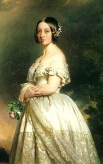 Queen Victoria wearing the Koh-i-Noor as a brooch
