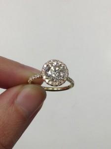 Diamond Halo Engagement Ring with Round Diamond from Adiamor