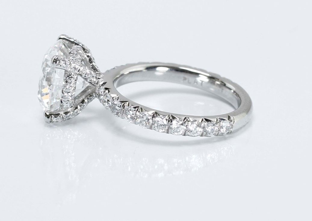 French Cut Diamond Pave Setting From Adiamor