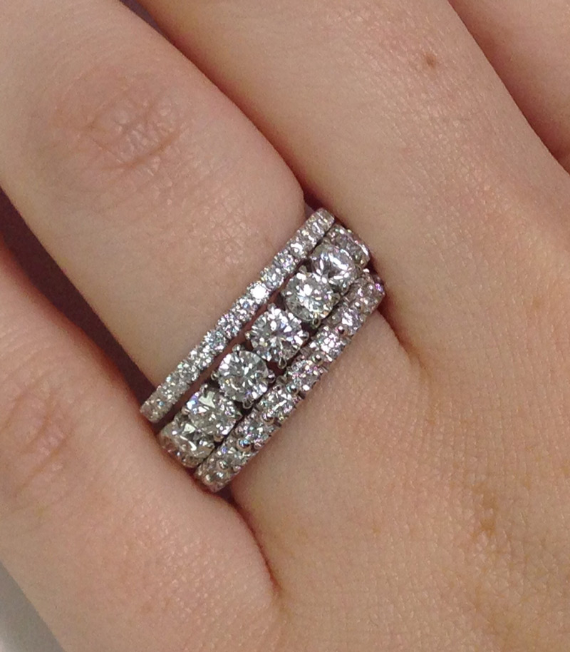 Stacked Eternity Bands from Adiamor