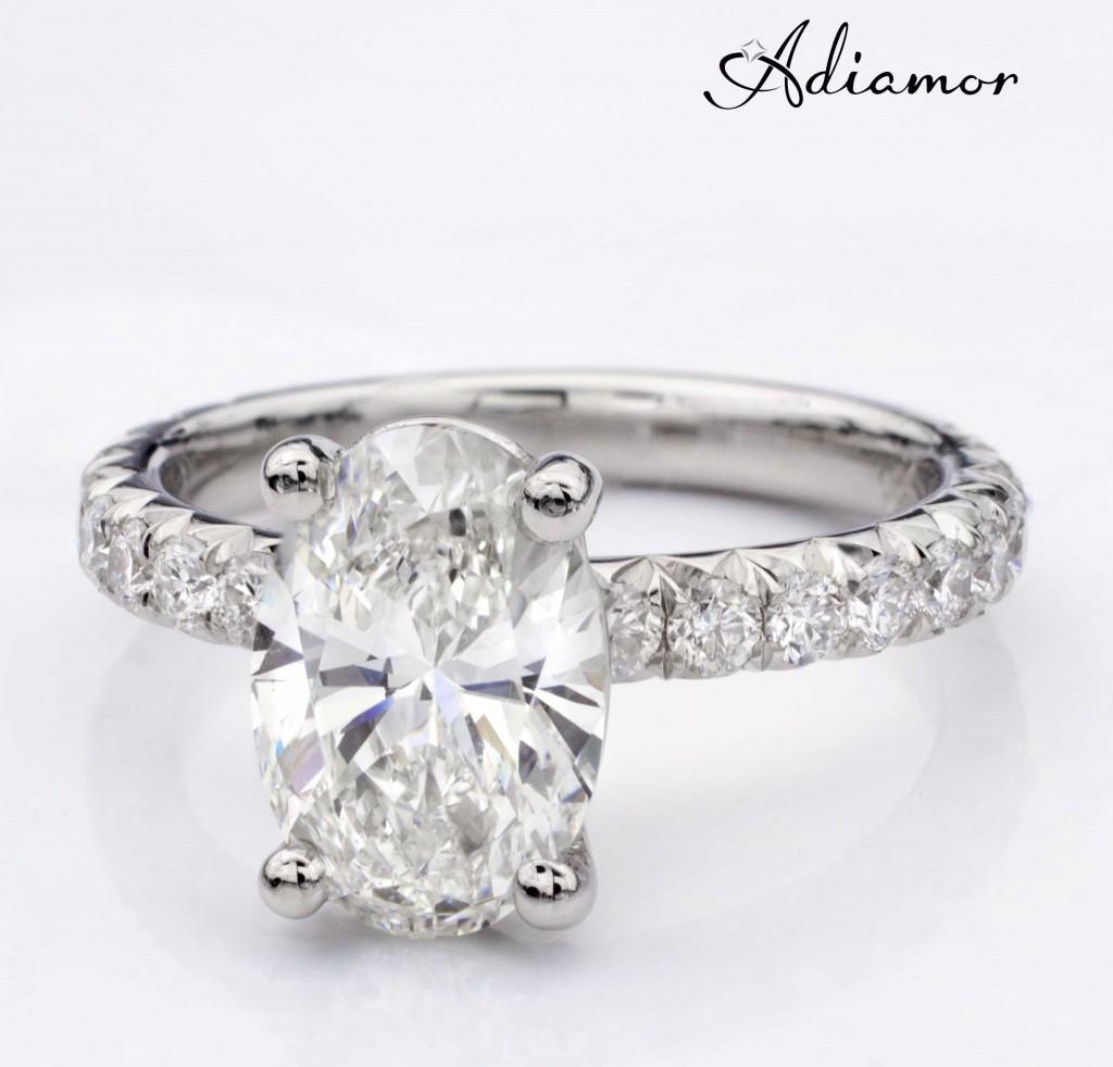 Adiamor Custom Engagement Ring for Oval Diamond