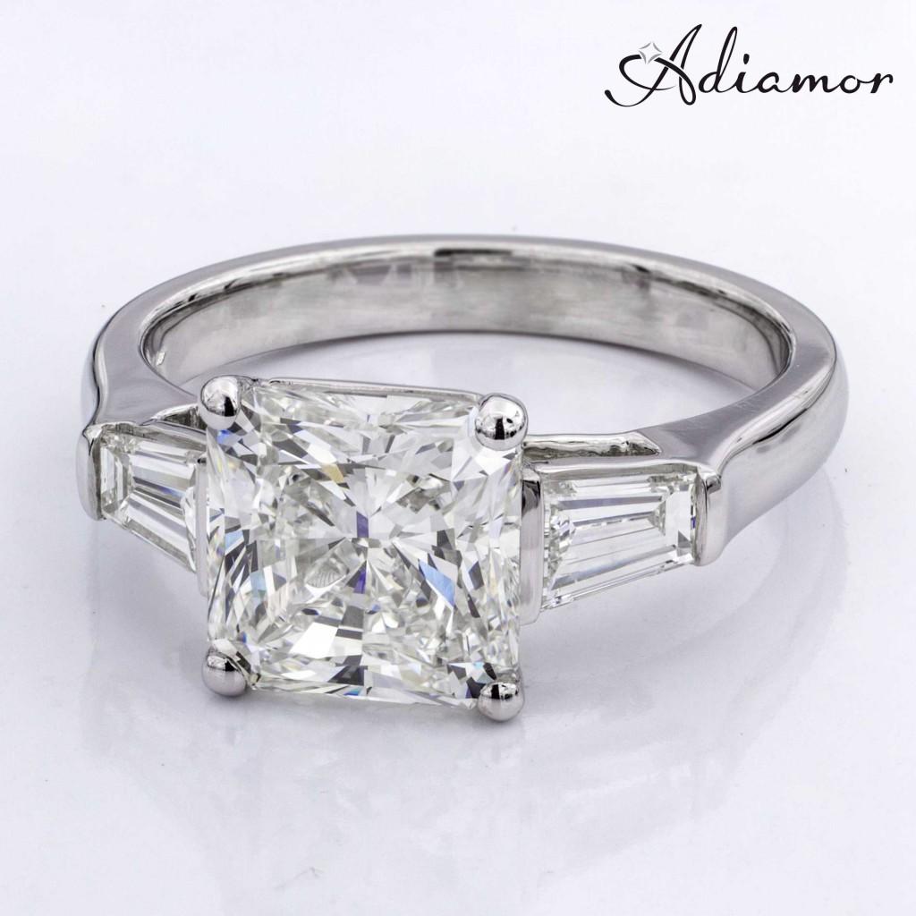 Custom Built Engagement for Radiant Diamond
