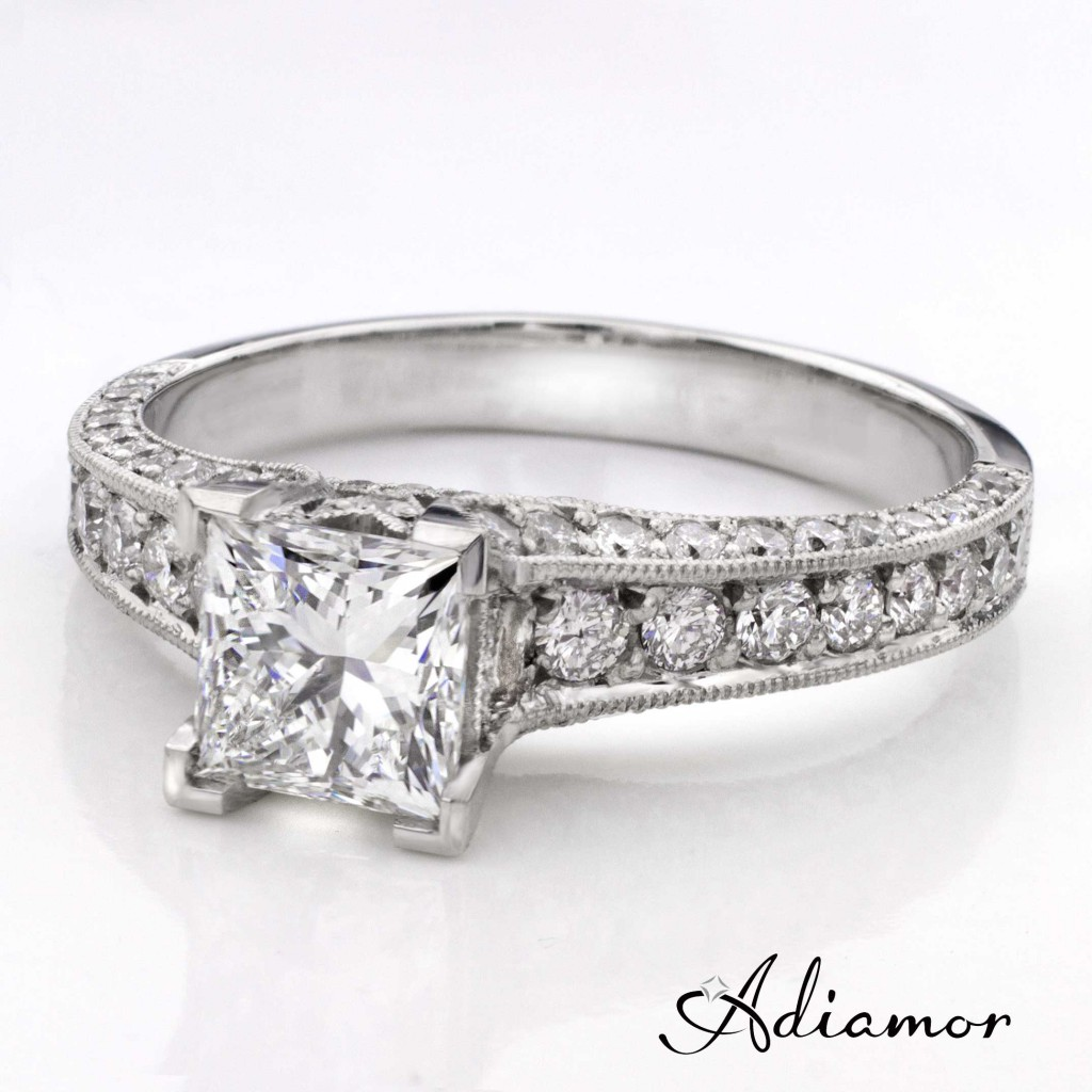 custom princess engagement ring