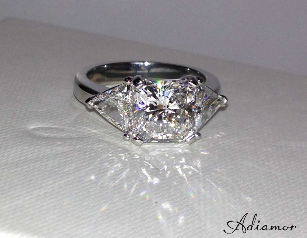 Radiant Diamond Three Stone Ring
