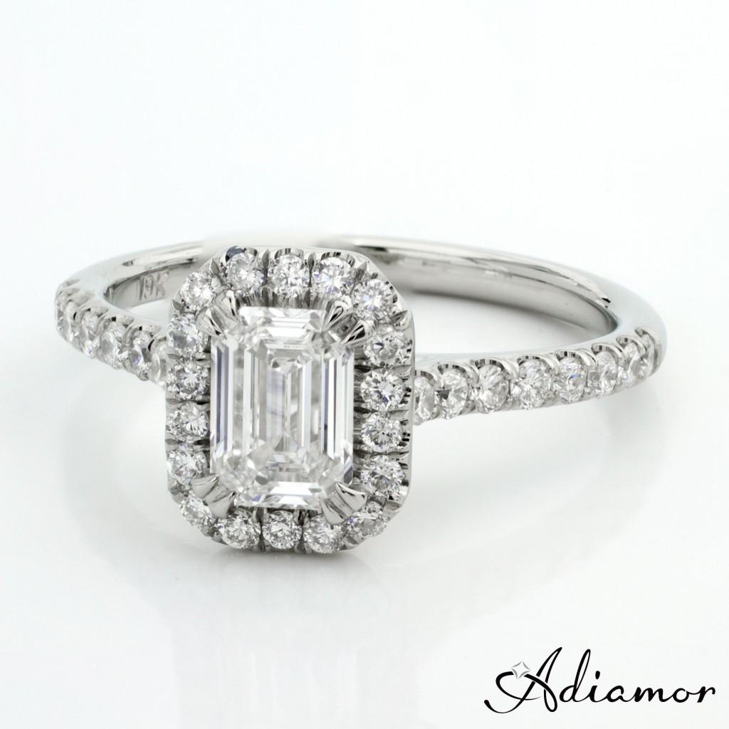Custom Emerald Cut Diamond Engagement Rings