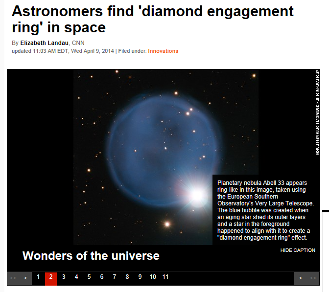 Diamond Engagement Ring In Space