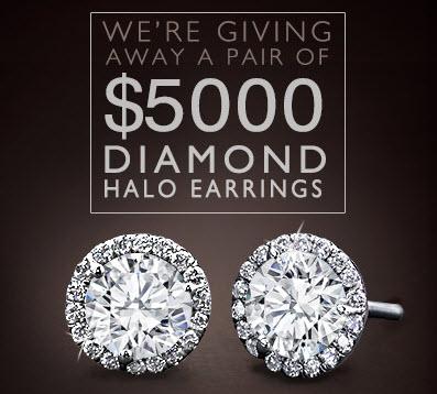 Adiamor Halo Diamond Earrings Sweepstakes