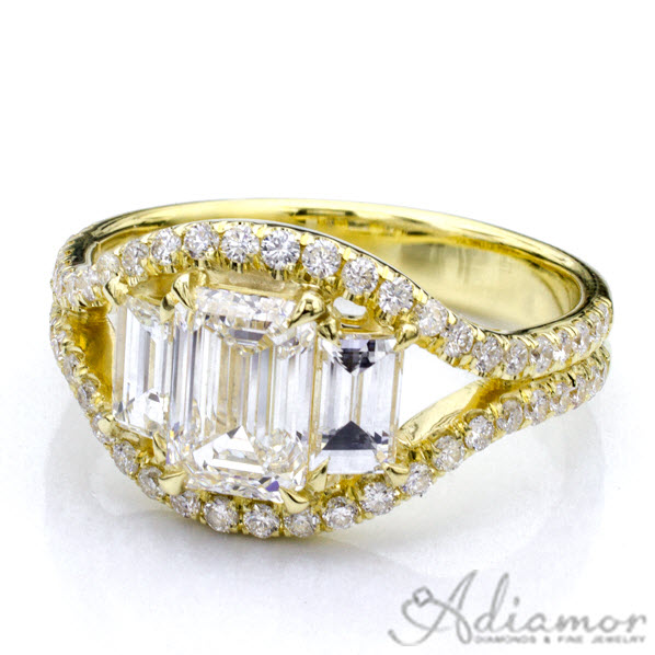 Ring Stories Emerald Cut Engagement Ring