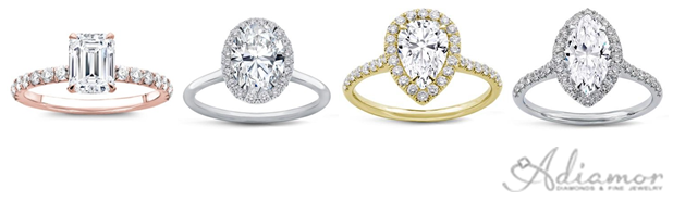Thin Band Engagment Rings For Fancy Shaped Diamonds
