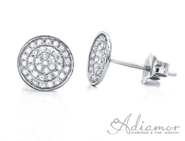 Diamond Pave Disc Earrings