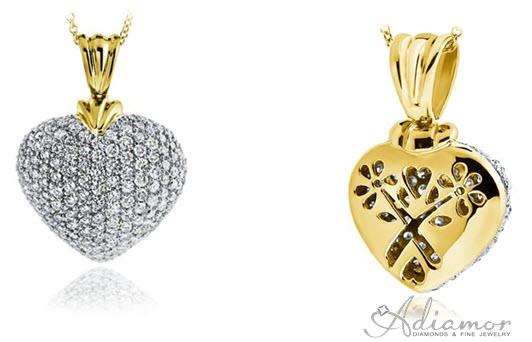 Pave diamond puffed heart pendant archives adiamor blog pave diamond puffed heart pendant mozeypictures Choice Image