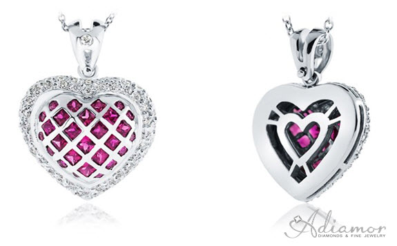 Pave diamond puffed heart pendant archives adiamor blog pink sapphire and diamond heart enhancer aloadofball Gallery