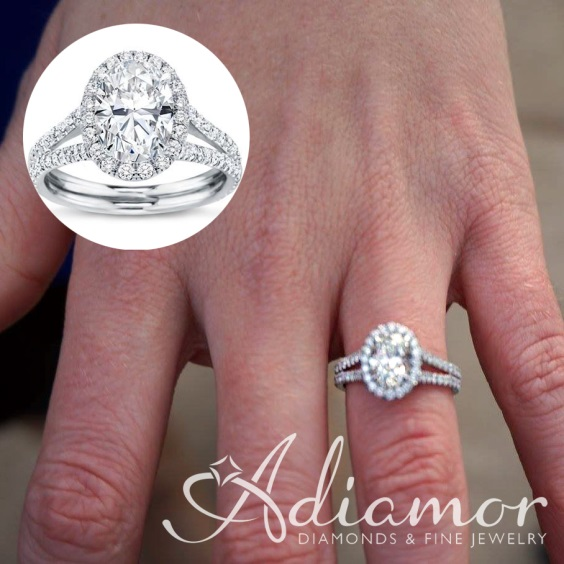 Diamond Solitaire Engagement Ring With a Diamond Shank Diamond-engagement-ring