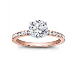 pave rose gold engagement ring