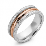 rose gold men's wedding ring