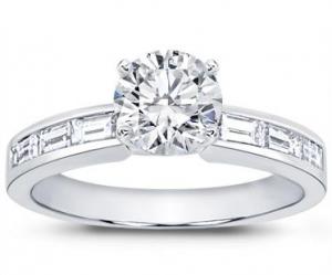 modern Baguette Diamond Engagement ring