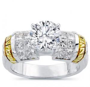 Two-Tone Diamond Setting