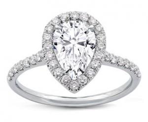 Pear Shape Diamond Halo Engagement Setting