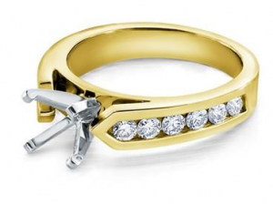 18k yellow gold Channel-Set Engagement Setting