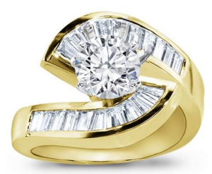 18k yellow gold engagement rings