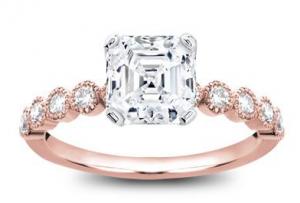 rose gold custom engagement ring