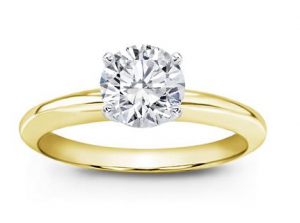 14k Yellow Gold Classic Solitaire