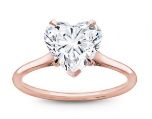 heart shaped rose gold engagement ring