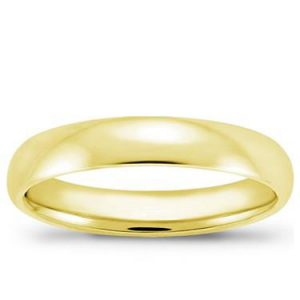 men's yellow gold comfort fit wedding band