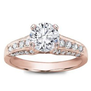 pave rose gold ring